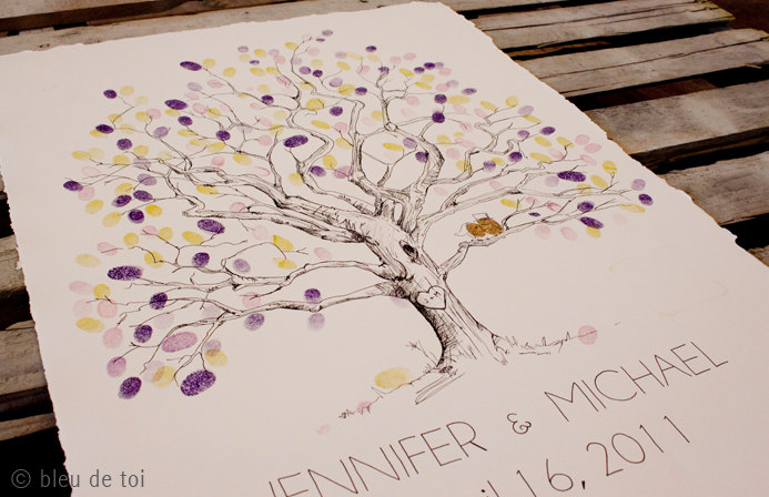 Guest book alternative the fingerprint tree stardust celebrations sciox Images