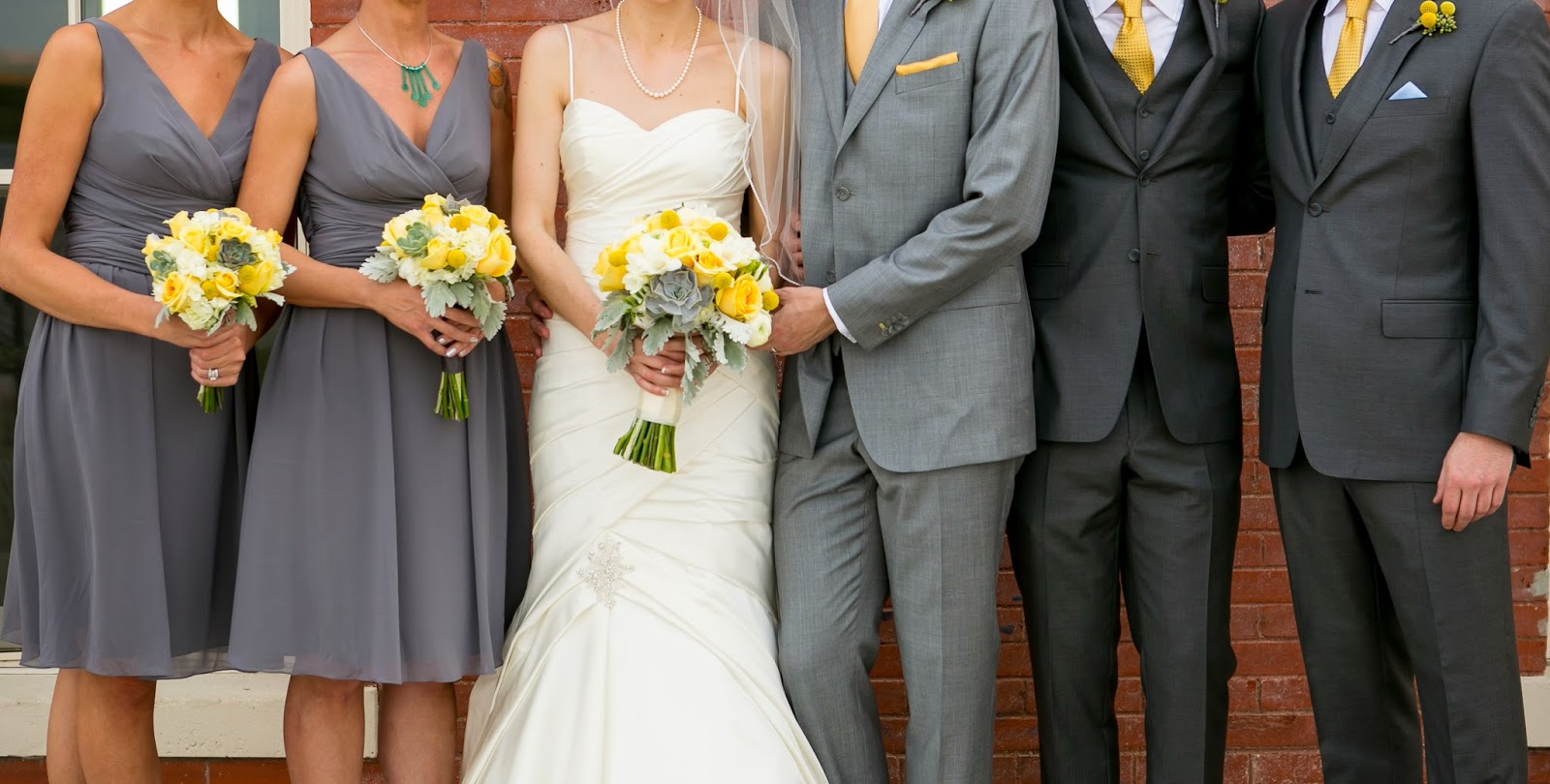 Yellow And Gray Wedding Colors Dress Images