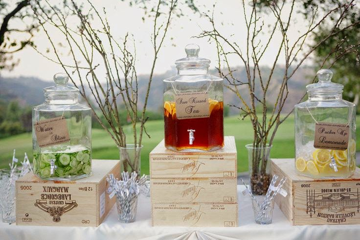 Trends We Love The Pre Ceremony Beverage Station Or Cocktail Hour