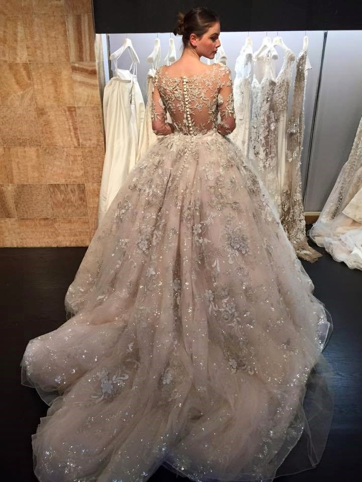 More stunning gowns from new york bridal market stardust for Ysa makino wedding dress