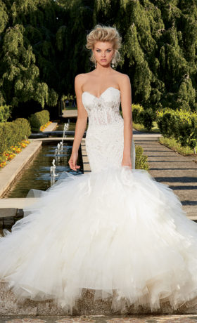 EM1535 Bridal Gown by Eve of Milady Front