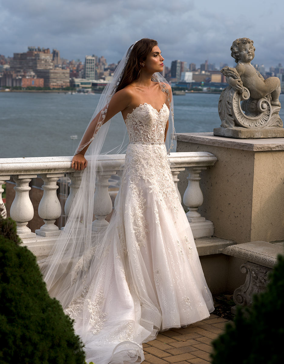 EM1549 Bridal Gown by Eve of Milady Front