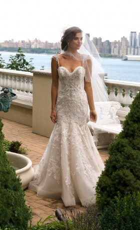 EM4341 Bridal Gown by Eve of Milady Front