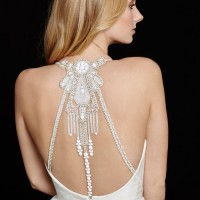 HPBAHATIBridal Gown by Hayley Paige Upper Back