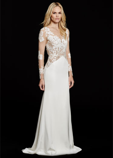 HPMONABridal Gown by Hayley Paige Front