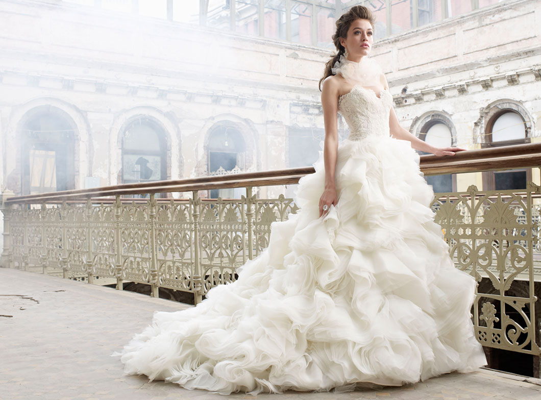 LZ3213Bridal Gown by Lazaro Front