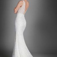LZ3558L Bridal Gown by Lazaro Back Side