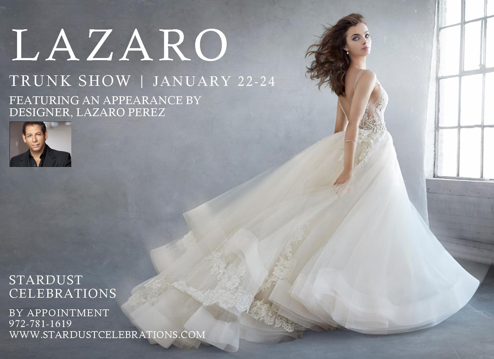 Meet Lazaro Perez at our 2016 Lazaro Trunk Show this weekend ...