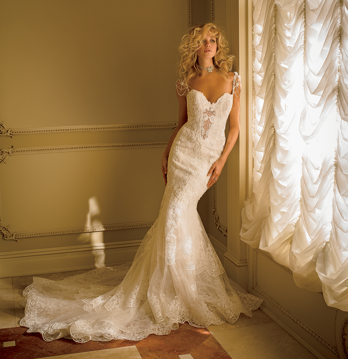 EM1559 Bridal Gown by Eve of Milady Front