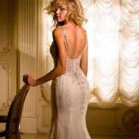 EM4344 Bridal Gown by Eve of Milady Back