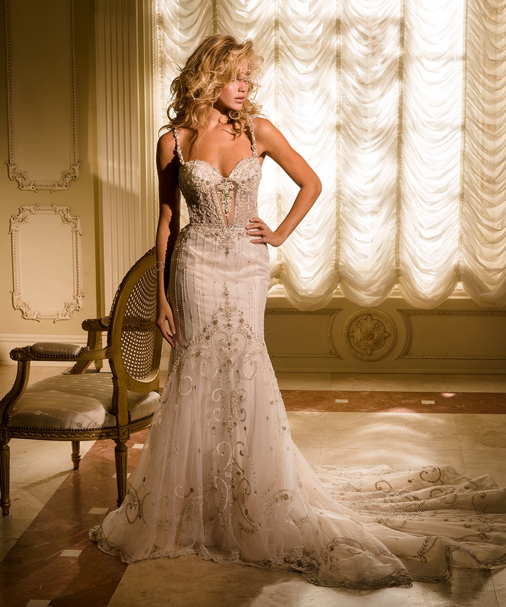 EM4344 Bridal Gown by Eve of Milady Front
