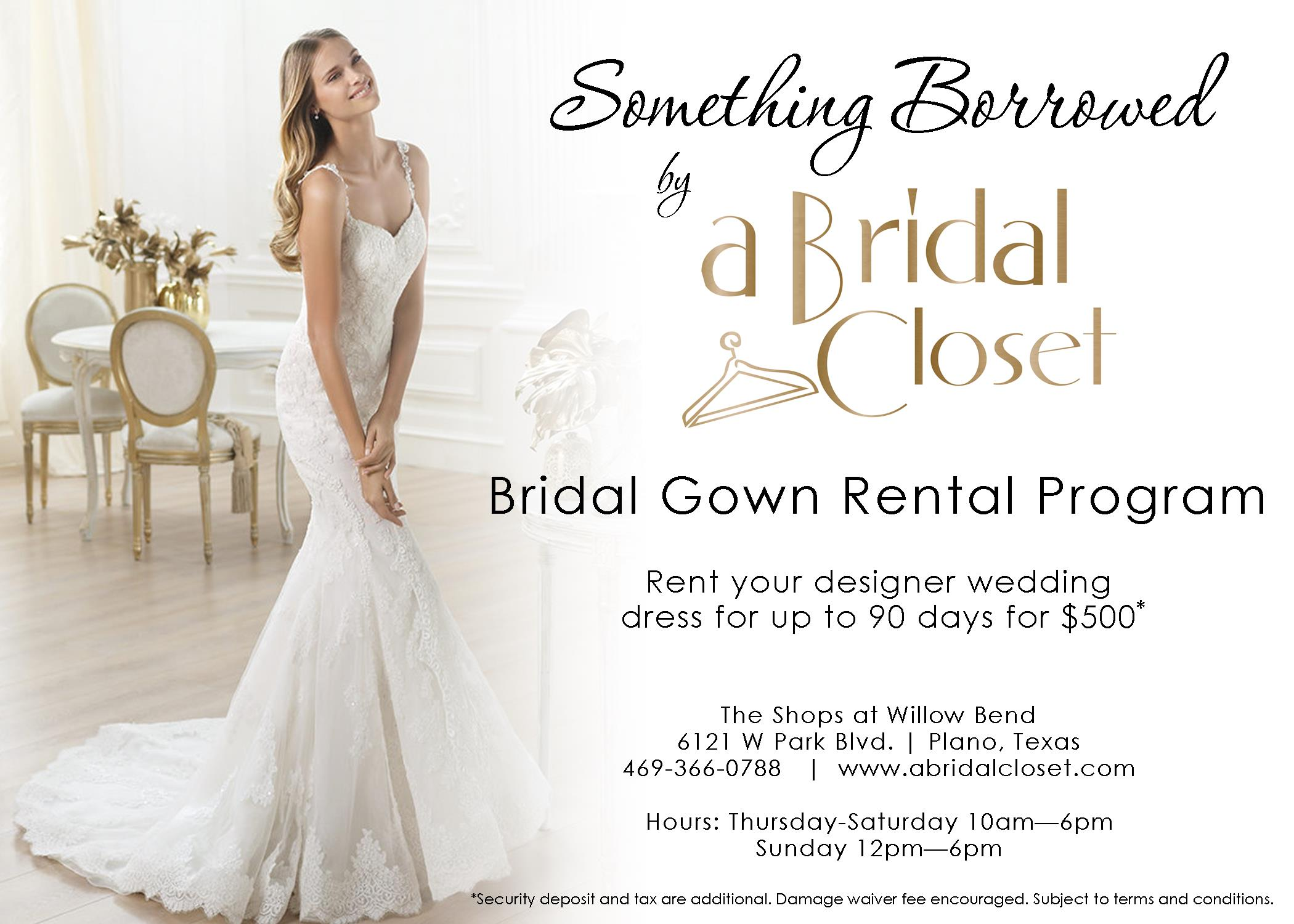 click here to learn more about our bridal gown rental program shop gowns