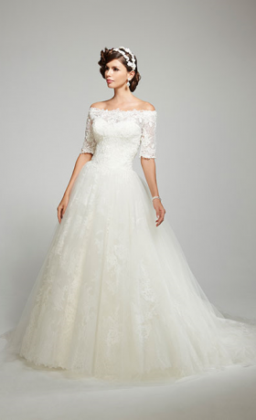 MTTConstanceBridal Gown by Matthew Christopher Front