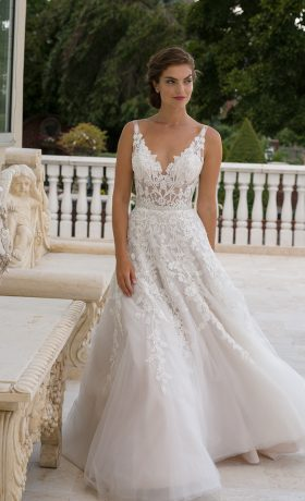 EM1556 Bridal Gown by Eve of Milady Front