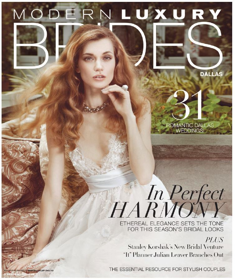 Dallas Brides Magazine featured Real Wedding