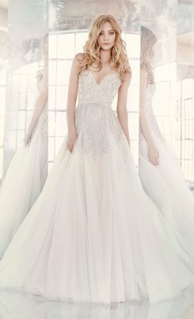 HPComet Bridal Gown by Hayley Paige Front Full