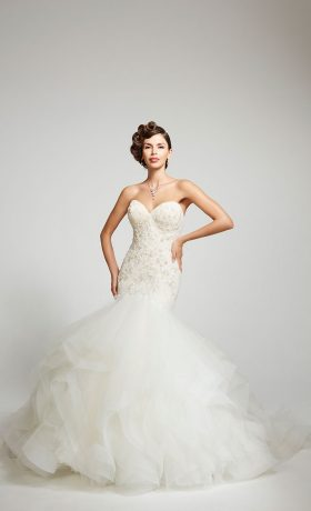 Adriana gown by Matthew Christopher available at Dallas Bridal Salon StarDust Celebrations