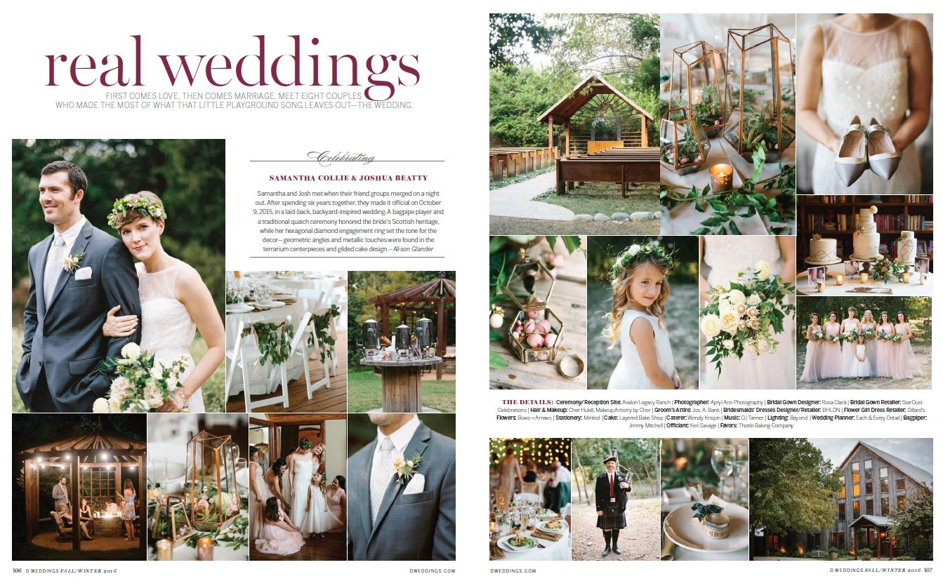 Real Wedding featured in D Weddings