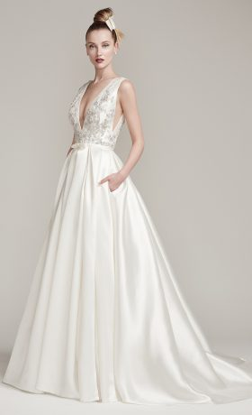 Margot wedding gown by Sottero & Midgley available at StarDust Celebrations a Dallas bridal boutique