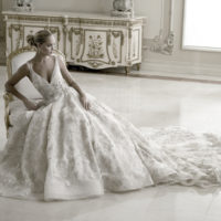 EM345 Bridal Gown by Eve of Milady Front