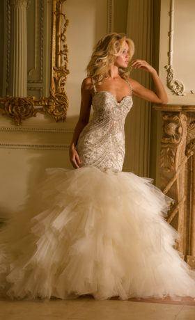 EM4348 Bridal Gown by Eve of Milady Front