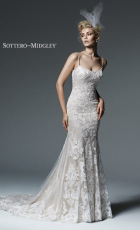 SMCelineWedding Gown bySottero & Midgley Front