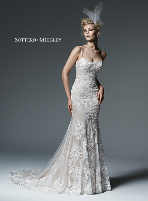 SMCeline Wedding Gown by Sottero & Midgley Front