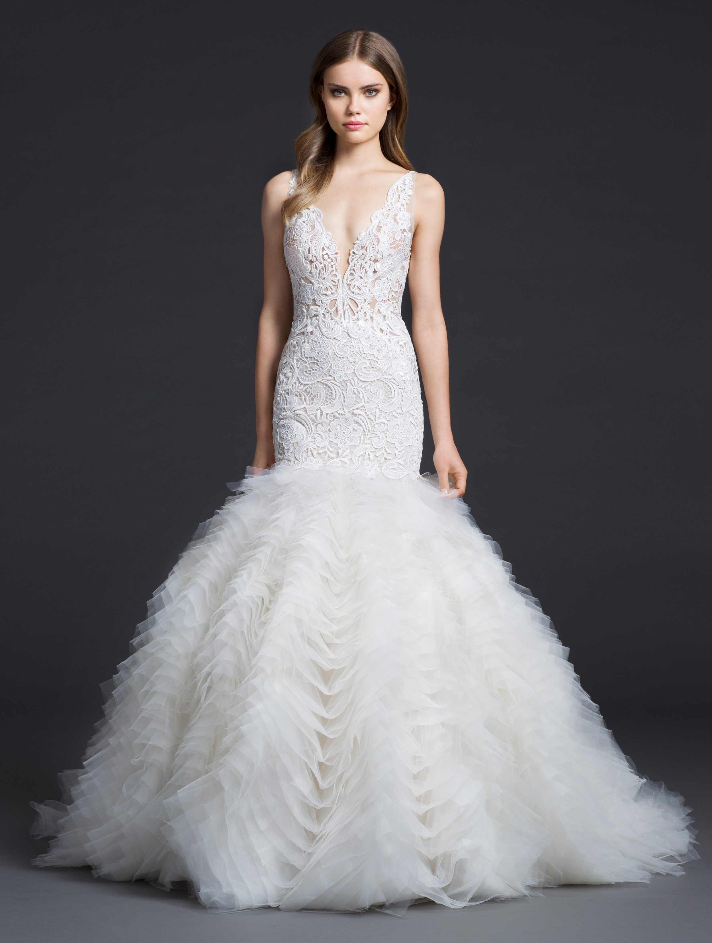 New wedding gowns from lazaro arrive at stardust for Website for wedding dresses