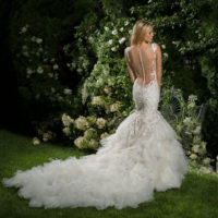 EM1563 Bridal Gown by Eve of Milady Back