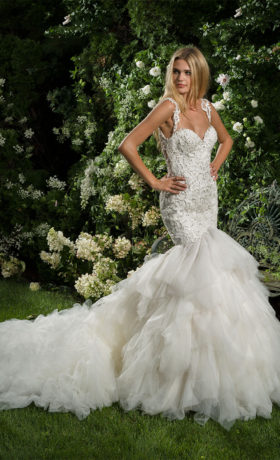EM1563 Bridal Gown by Eve of Milady Front