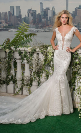 EM4351 Bridal Gown by Eve of Milady Front