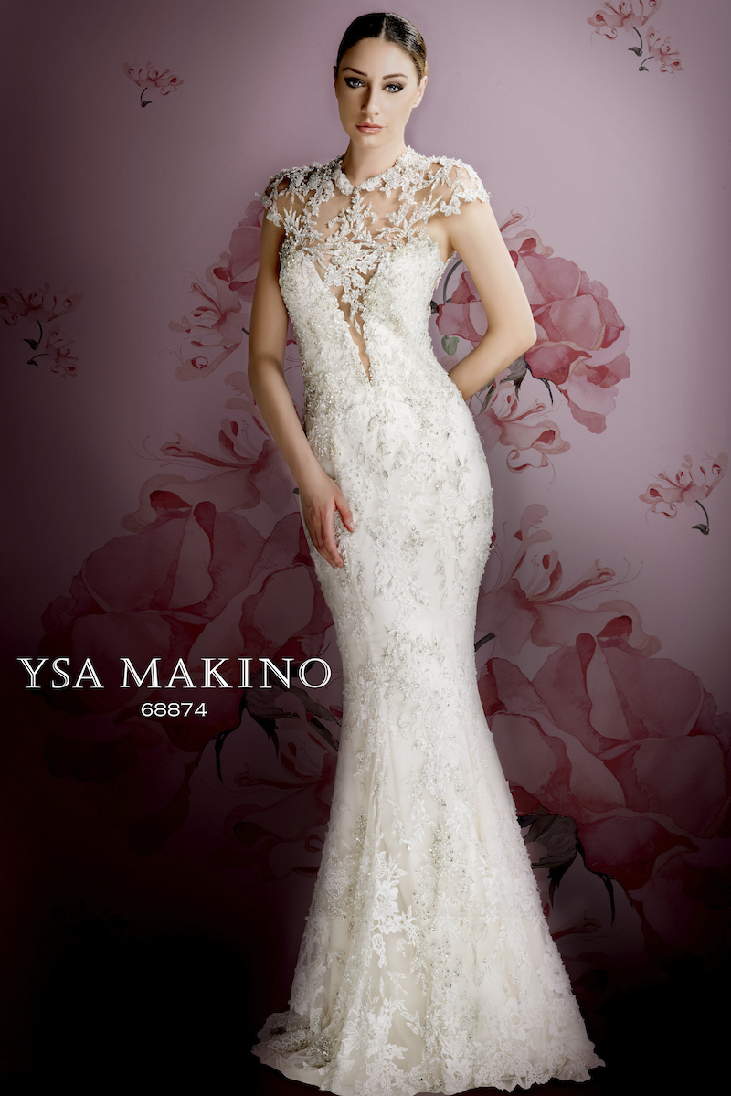 YM68874/OS Bridal Gown by Ysa Makino Front